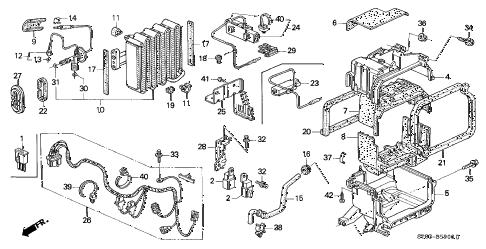 Acura online store : 1996 integra a/c unit (1) parts