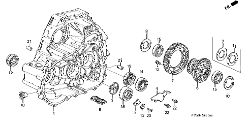 Acura online store : 1994 integra mt clutch housing parts