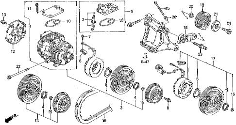Acura online store : 1994 integra a/c compressor (denso