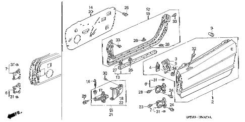 Acura online store : 2001 nsx door panels parts