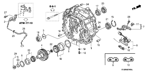 Acura online store : 1997 tl torque converter housing (v6