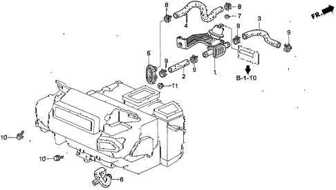 Acura online store : 1996 tl water valve parts
