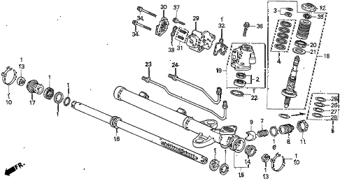 Acura online store : 1996 tl p.s. gear box components (v6