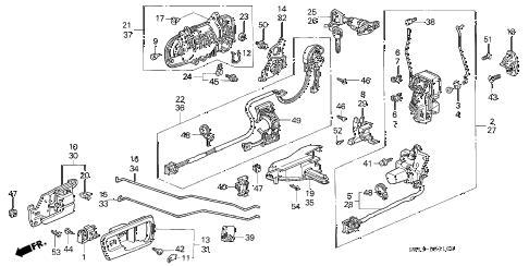 Acura online store : 1996 tl front door locks parts