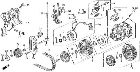 Acura online store : 1998 tl a/c compressor parts
