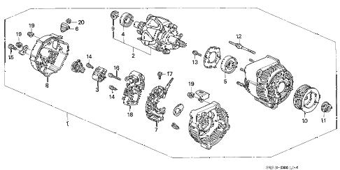 Acura online store : 1997 tl alternator (denso) parts