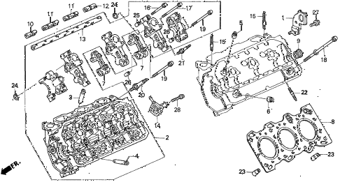 Acura online store : 1997 tl cylinder head (l.) (v6) parts