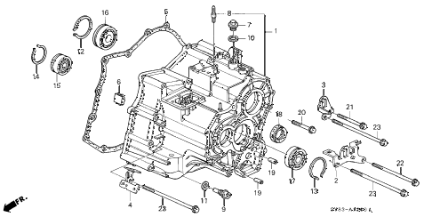 Acura online store : 1998 cl at transmission housing (2) parts