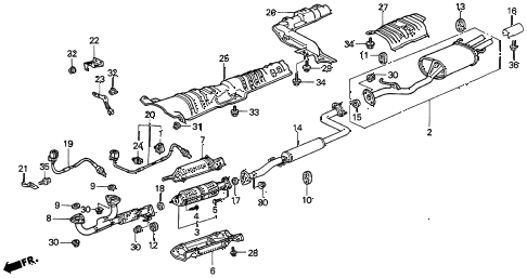 Acura online store : 1999 cl exhaust pipe (2) parts