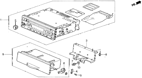Acura online store : 1999 cl auto radio parts