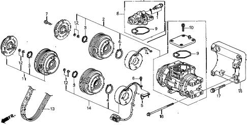Acura online store : 1998 cl a/c compressor (denso) (2) parts