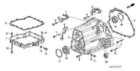 Acura online store : 1997 rl at transmission housing parts