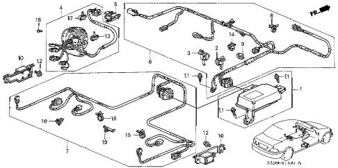 Acura online store : 2003 rl srs unit ('99-'03) parts