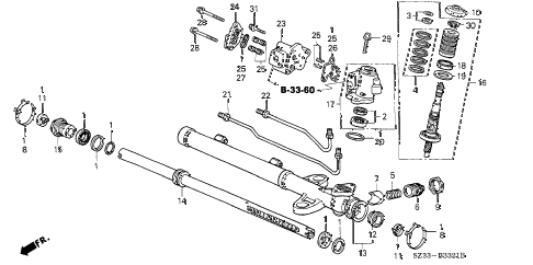 Acura online store : 2000 rl p.s. gear box components (2