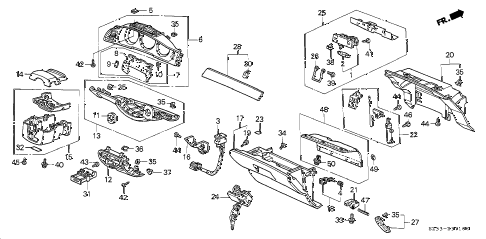 Acura online store : 2003 rl instrument panel garnish parts