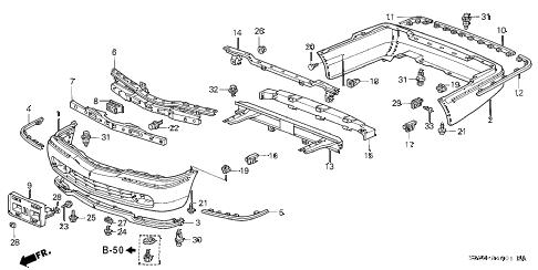 Acura online store : 1999 rl bumper (2) parts