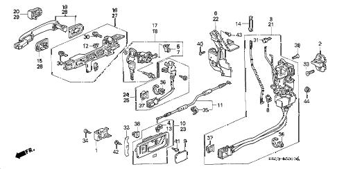 Acura online store : 1997 rl front door locks parts