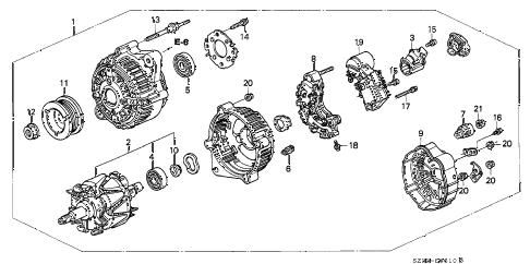 Acura online store : 2002 rl alternator (denso) parts