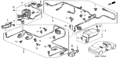 Acura online store : 2004 rl srs unit parts