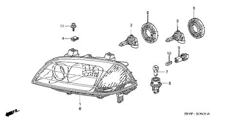 Acura online store : 2002 mdx headlight (1) parts