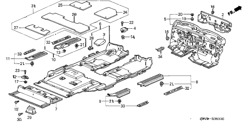 Acura online store : 2005 mdx floor mat parts
