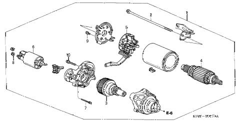 Acura online store : 2002 mdx starter motor (mitsuba) parts
