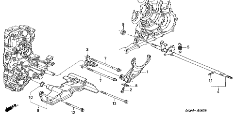 Acura online store : 2001 mdx at shift fork ('01-'02) parts