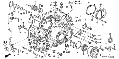 Acura online store : 2004 mdx at transmission case ('03