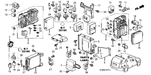Acura online store : 2001 mdx control unit (cabin) (1) parts