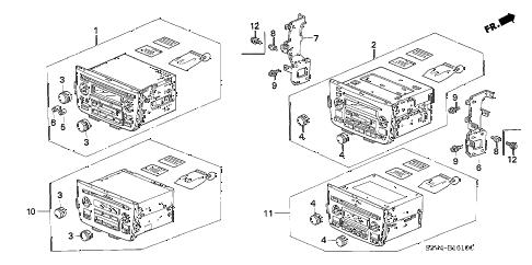 Acura online store : 2001 mdx auto radio (1) parts