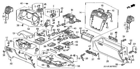 Acura online store : 2004 mdx instrument panel garnish parts