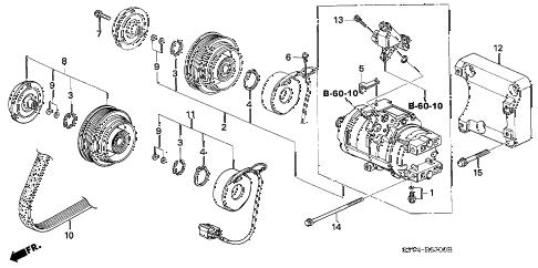 Acura online store : 2001 mdx a/c compressor (1) parts