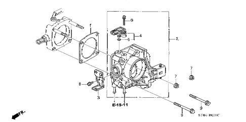 Acura online store : 2005 mdx throttle body (2) parts
