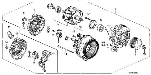 Acura online store : 2006 mdx alternator (denso) parts