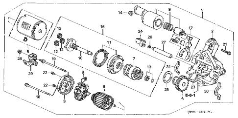 Acura online store : 2005 mdx starter motor (mitsubishi) parts