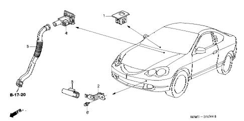 Acura online store : 2002 rsx a/c sensor parts