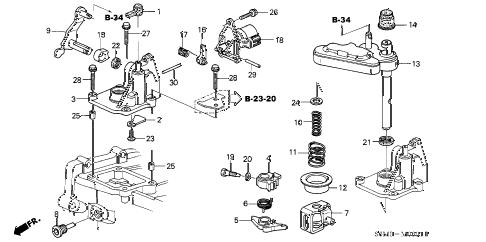 Acura online store : 2002 rsx mt shift arm (6mt) parts