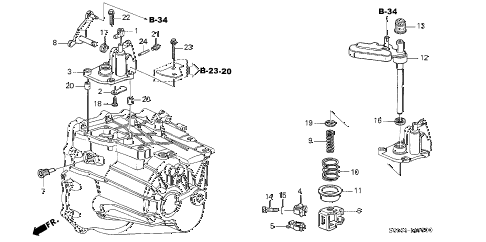 Acura online store : 2002 rsx mt shift arm (5mt) parts