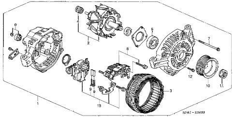 Acura online store : 2002 rsx alternator (mitsubishi) parts