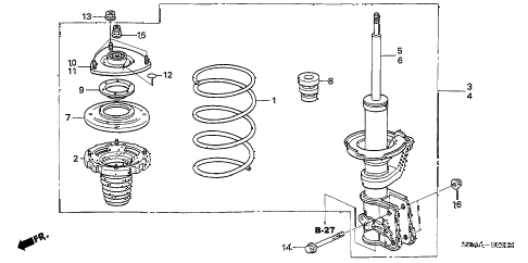 Acura online store : 2006 rsx front shock absorber parts