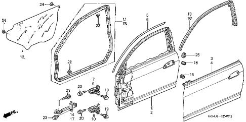 Acura online store : 2006 rsx door panels parts