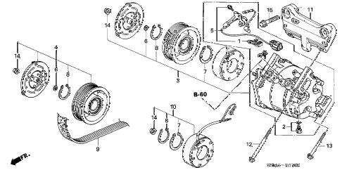 Acura online store : 2006 rsx a/c compressor parts