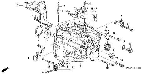 Acura online store : 2006 rsx mt transmission case parts