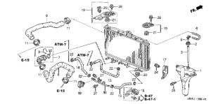 Acura online store : 2004 tsx radiator hose  reserve tank