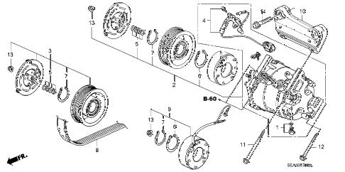 Acura online store : 2004 tsx a/c compressor parts