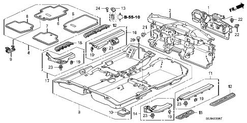 Acura online store : 2008 tsx floor mat parts