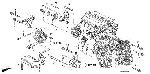 Acura online store : 2008 tsx engine mounting bracket parts