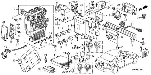 Acura online store : 2006 tl control unit (cabin) parts
