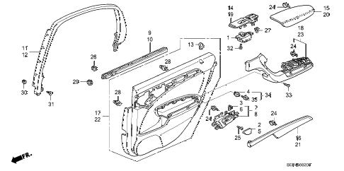Acura online store : 2006 tl rear door lining parts