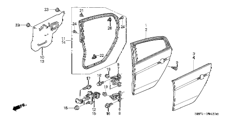 Acura online store : 2004 tl rear door panels parts